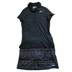 Nike Golf Skort (S) + Golf Shirt (M) Bundle